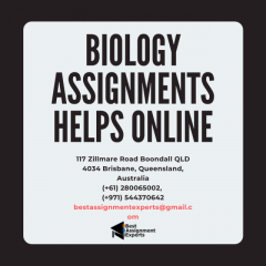 Online Biology Assignment Help from Ph.D Experts