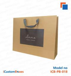 Kraft paper bags with handles wholesale at discounted p