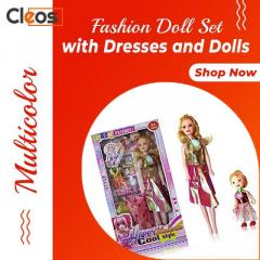 Barbie Fashion Doll Set With Dresses And Dolls