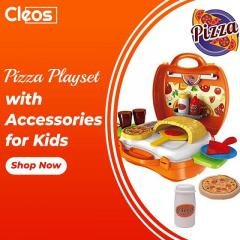 Pizza Play Set With Brick Oven  Cleos