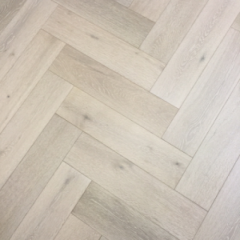 Buy White Engineered Herringbone Flooring - Floo