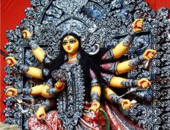 Fiberglass Durga Idol