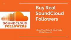 Get Real Soundcloud Followers At Affordable Pric