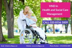 HND in Health and Social Care At MRC UK