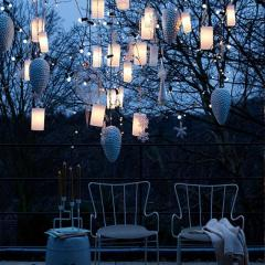 Your porch giving a warm glow with Hanging Outdoor Ligh