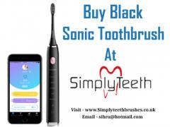Buy Black Sonic Toothbrush At Simplyteeth Online ltd