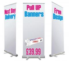 Pull-up banners are the versatile option