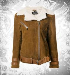 Shearling Leather Jacket for Women