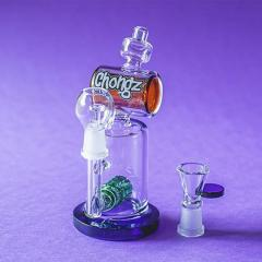 Chongz Molly 2-in-1 Flower Bong and Oil Rig on Olivastu