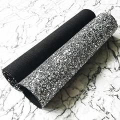 Glitter Fabric In Metallic Grey,  Shop Now