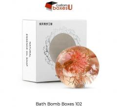 Printed Personalized Branded Bath Bomb Boxes In