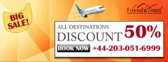 Get 50 Discount On Flights to All Destinations from UK