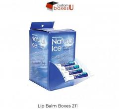 Lip balm packaging boxes with Printed logo & Design