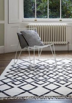 Hackney Rug by Asiatic Carpets in Diamond Mono Design