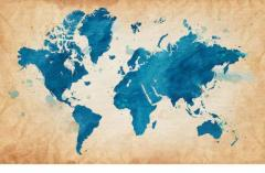 World Map Canvas Art Gallery