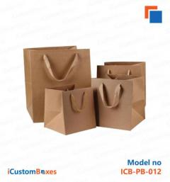 Custom Printed Paper Bags With Handles For Sale