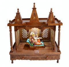 Teak wood Pooja Mandir for home uk