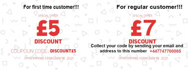 Special Offer for 1st-time customer get 5pound discount 4 Image