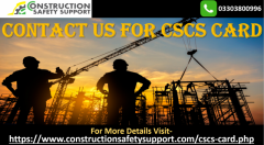 Book your CSCS Card  Contact us for CSCS Card
