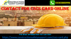 Contact Here for CSCS Card  Contact for CSCS Card Book