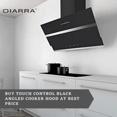 Buy Touch Control Black Angled Cooker Hood