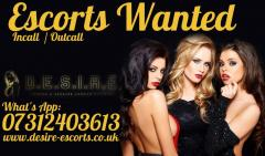 Escorts Wanted - Incall & Outcall - Apply Today