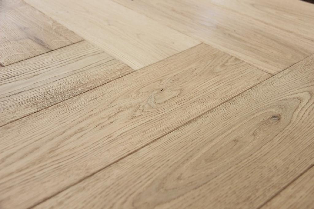 Buy White and Grey Herringbone Engineered Wood Flooring 3 Image
