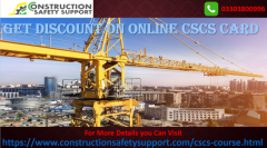 Get Discount on Online CSCS Card Booking