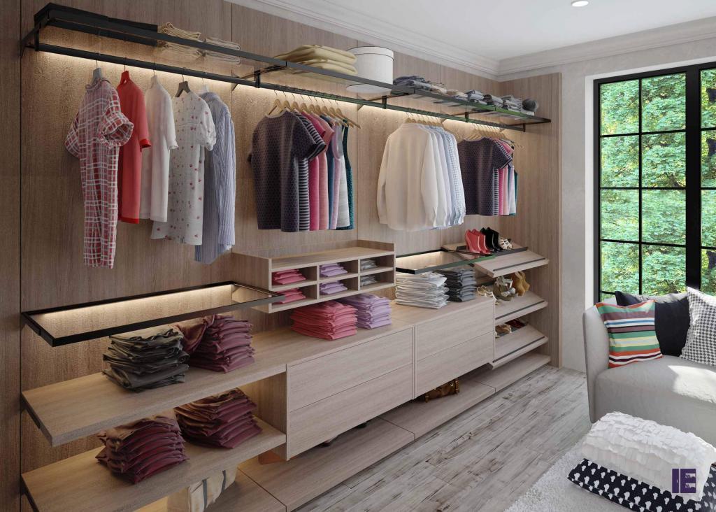 Wardrobe with Shoe Rack Top of Wardrobe Storage Internal Wardrobe 7 Image