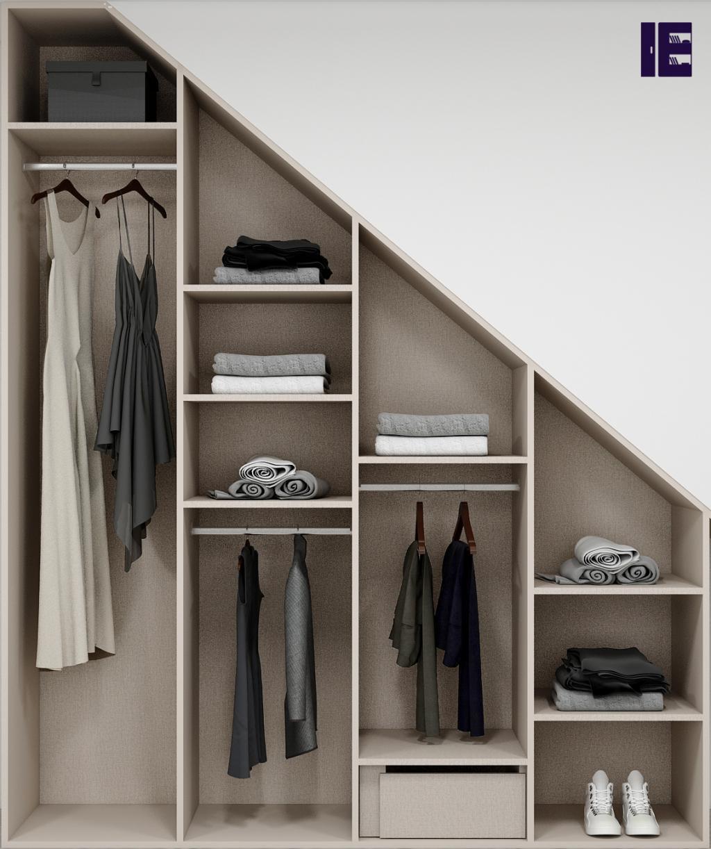 Wardrobe with Shoe Rack Top of Wardrobe Storage Internal Wardrobe 9 Image