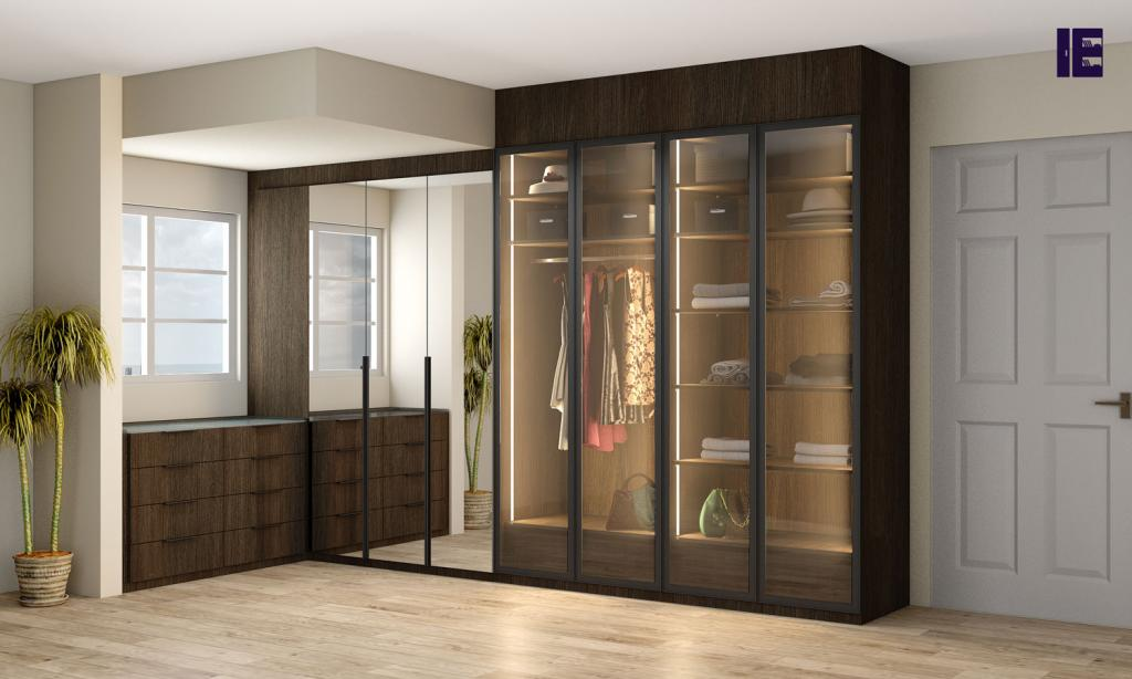 Wardrobes with Glass Doors Fitted Mirrored Wardrobes Glass Fitted 3 Image