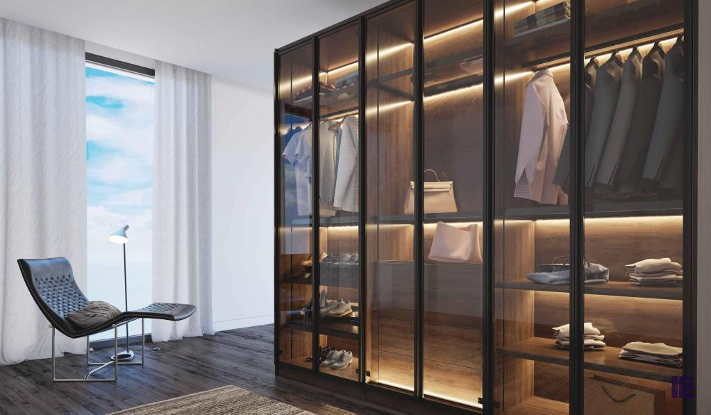 Wardrobes with Glass Doors Fitted Mirrored Wardrobes Glass Fitted 4 Image