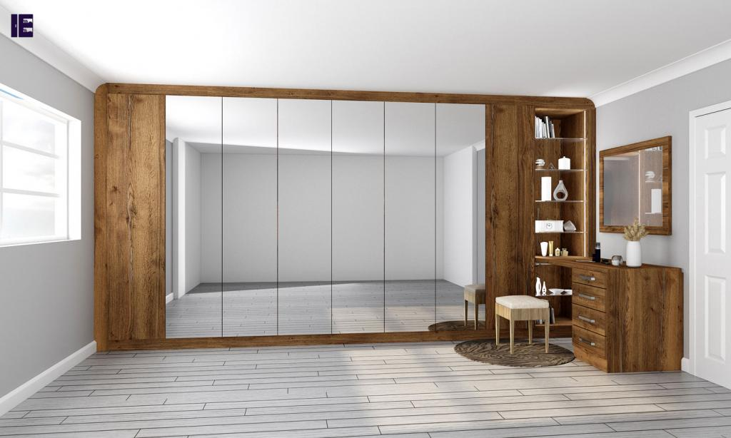Wardrobes with Glass Doors Fitted Mirrored Wardrobes Glass Fitted 11 Image