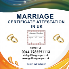 Marriage Certificate Attestation In Uk