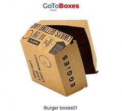 Get Custom Burger Boxes Packaging Wholesale At G