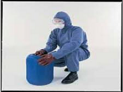 Shop Cat 3 Type 56 Blue Hooded Asbestos Coverall