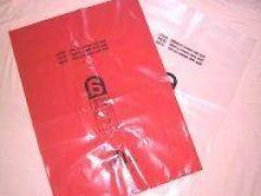 Buy Asbestos Bags Pack Of 100 Red & Clear Colour