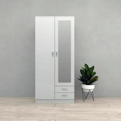 TESORO DIRECT 3 DOOR 2 DRAWER FROSTY WHITE