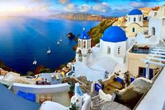 5-Star Santorini Luxury Escape Wflights & Meals