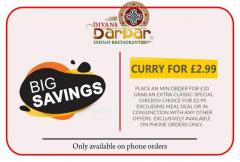 Get The Existing Offer In All Curry Menu-Divans