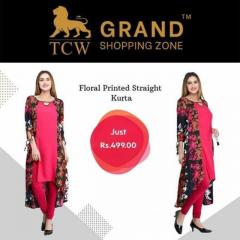 Grand Shopping Zone Women Floral Printed Straigh