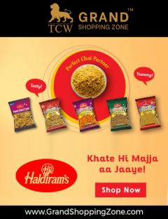 Grand Shopping Zone Snacks  Haldiram Khatta Meet