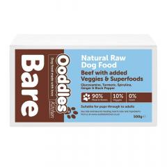 Natural Raw Dog Food Beef With Added Veggies & S