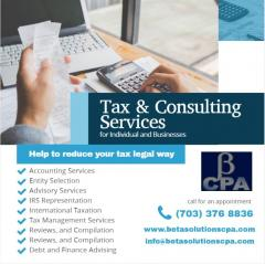 Cpa Services In Tysons  Tax Preparation Services
