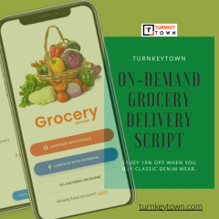 On-Demand Grocery Delivery Script - Turnkeytown
