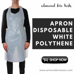 Apron Disposable White Polythene