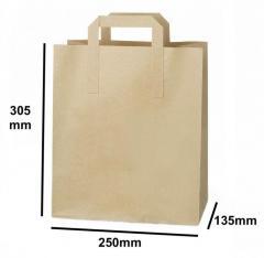 Shop Large Kraft Sos Carrier Bag From Food Packa