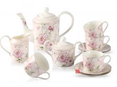 Guangyang 11 Pieces Porcelain Tea Set, Teapot Wi