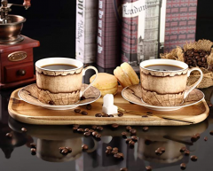 Uangyang Porcelain Tea Cups And Saucers Set Of 2