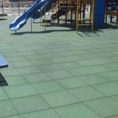 Outdoor Safety Playground Rubber Tiles - 30Mm